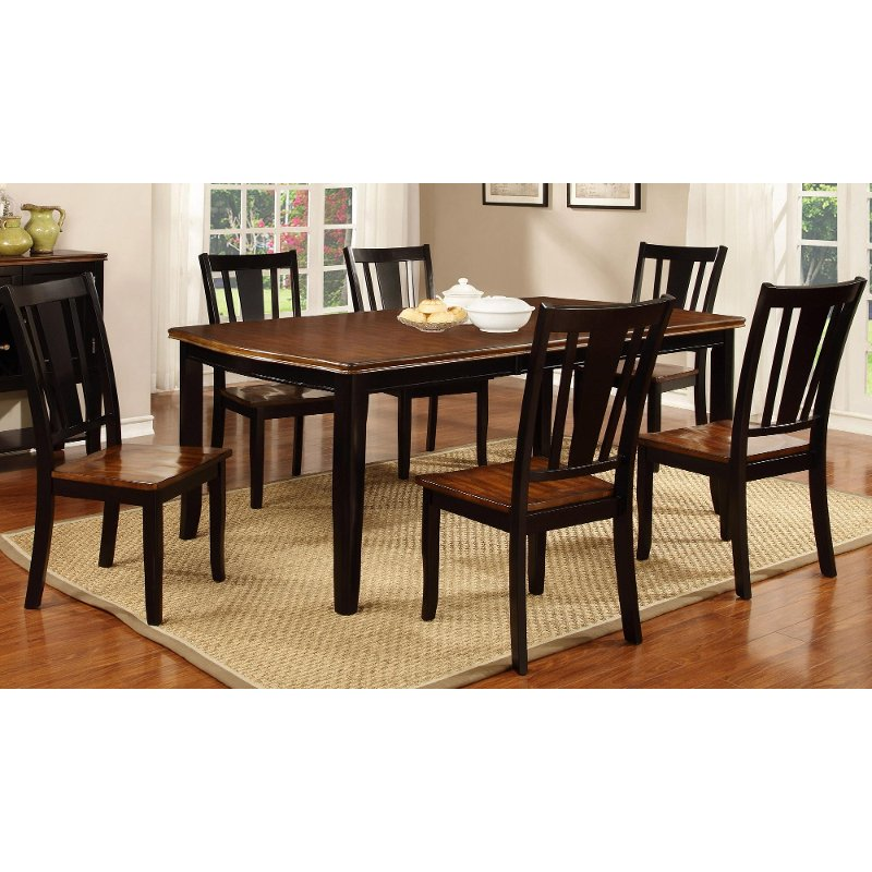 Cherry Dining Sets: Black And Cherry 5 Piece Dining Set - Dover