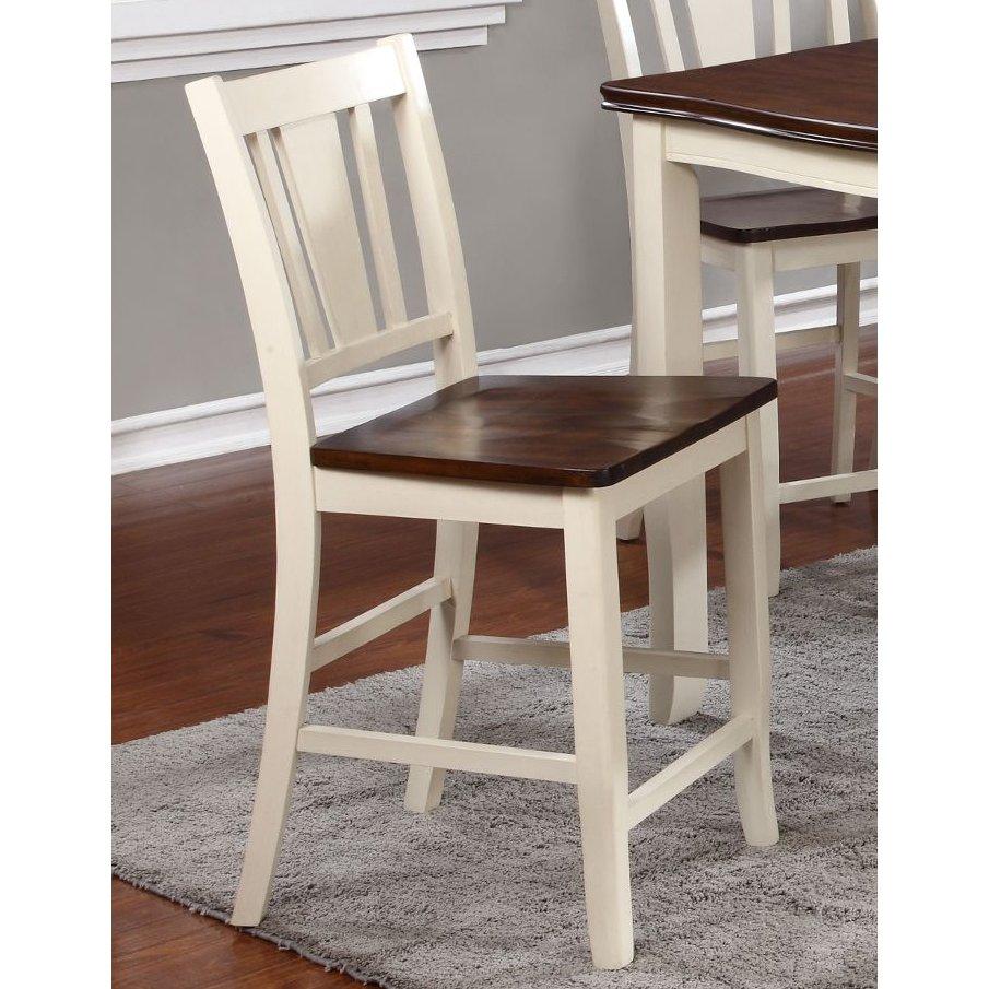 Rc Willey Boise Idaho: White And Cherry 24 Inch Counter Height Stool - Dover