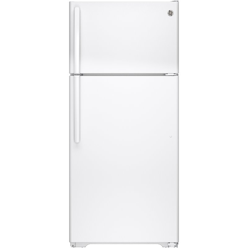 Ge Top Freezer Refrigerator 28 Inch White Rc Willey Furniture Store