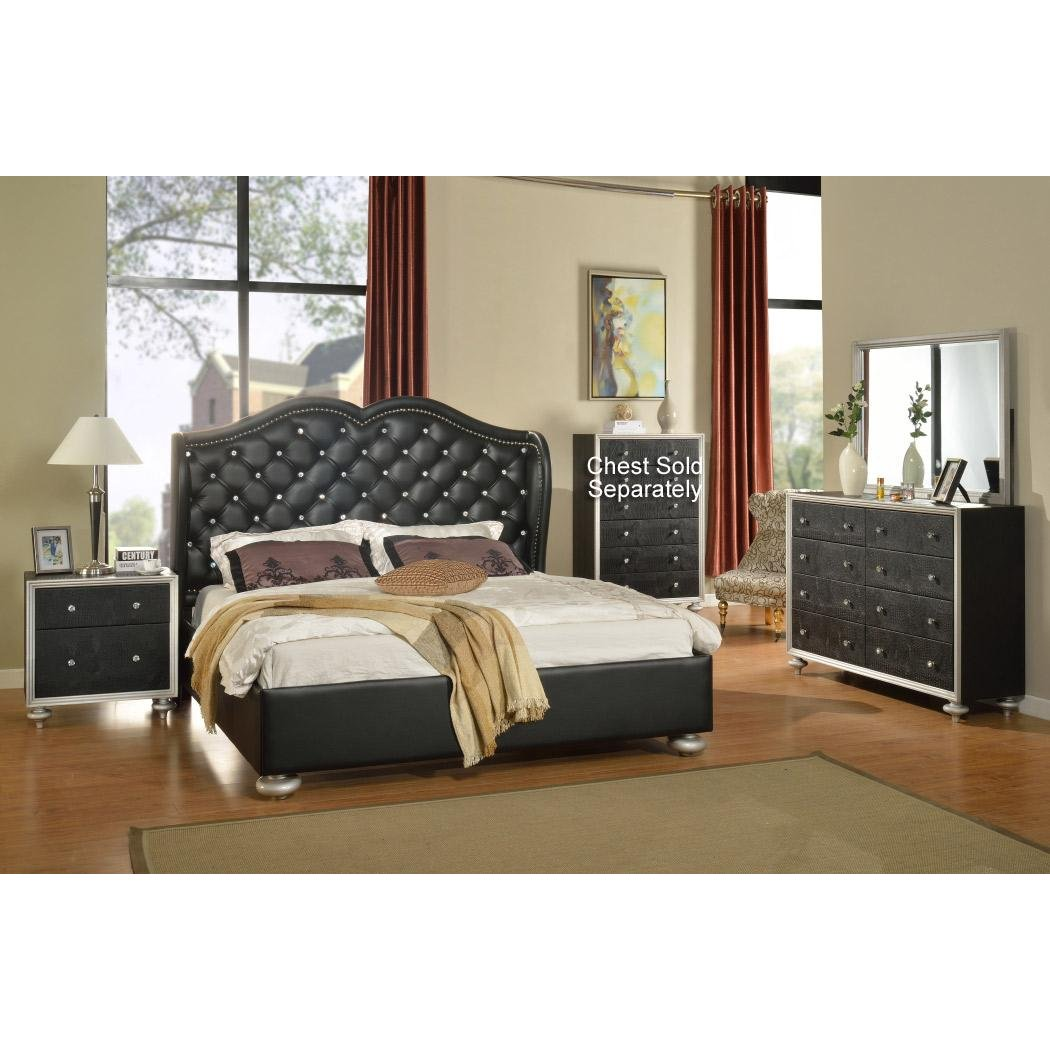 Bedroom Set With Rhinestones