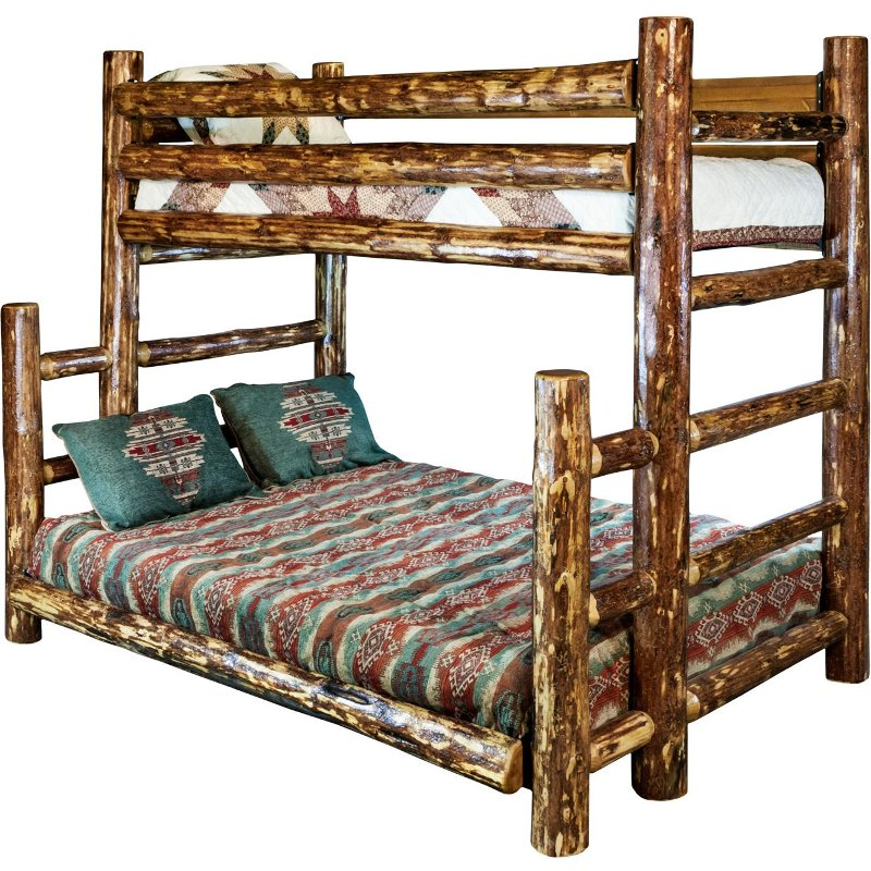 Natural Log Twin Over Full Bunk Bed Glacier Country Rc Willey