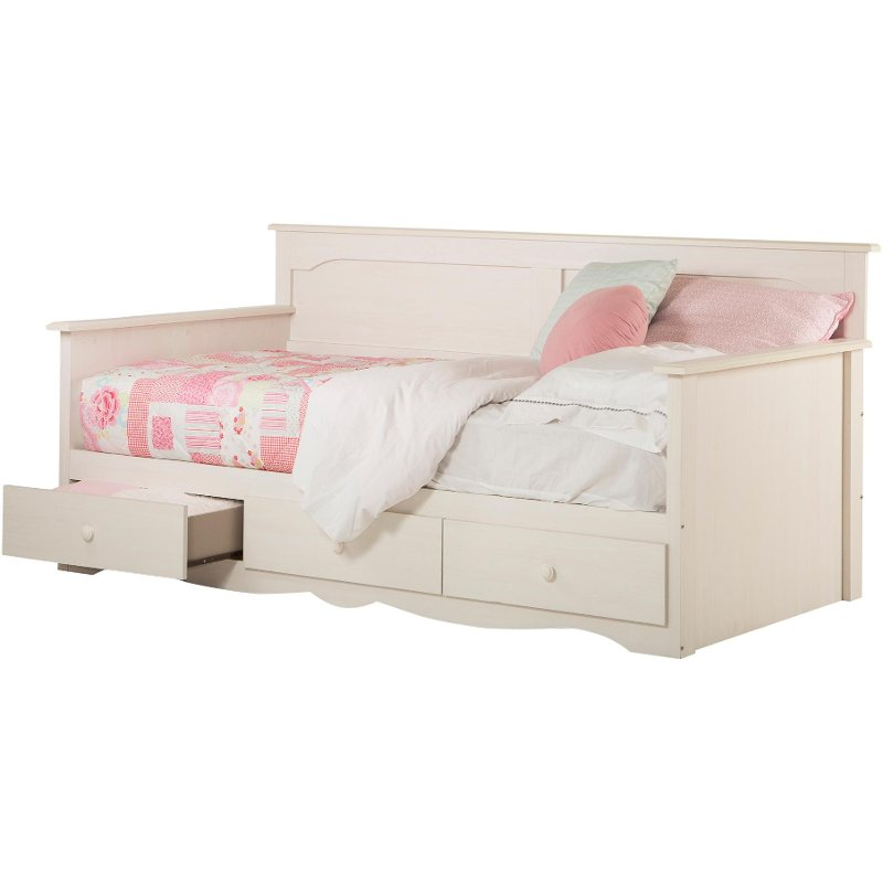 White Wash Twin Daybed With Storage (39 Inch)   Summer Breeze   RC Willey  Furniture Store