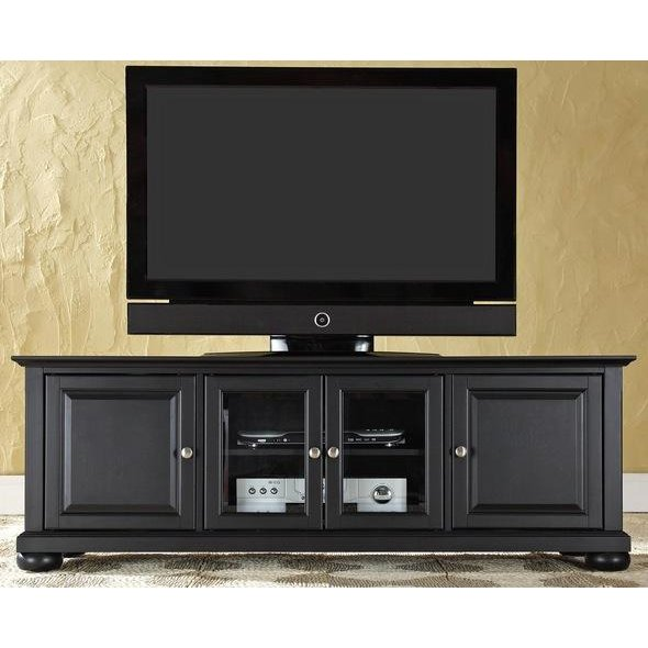 Black 60 Inch Low Profile TV Stand   Alexandria | RC Willey Furniture Store