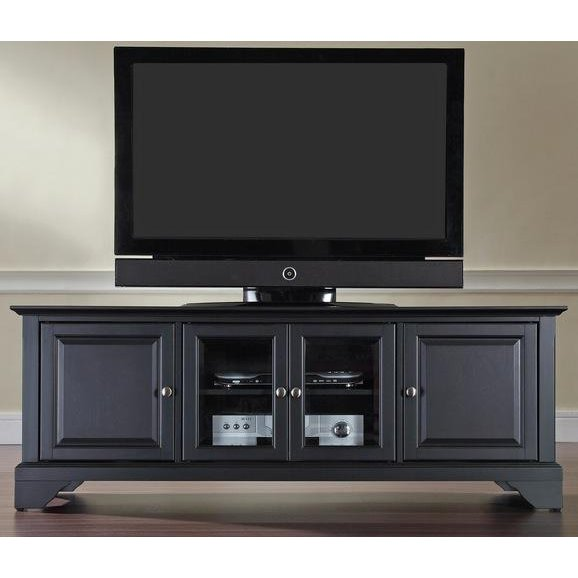 Black 60 Inch Low Profile Tv Stand Lafayette Rc Willey Furniture
