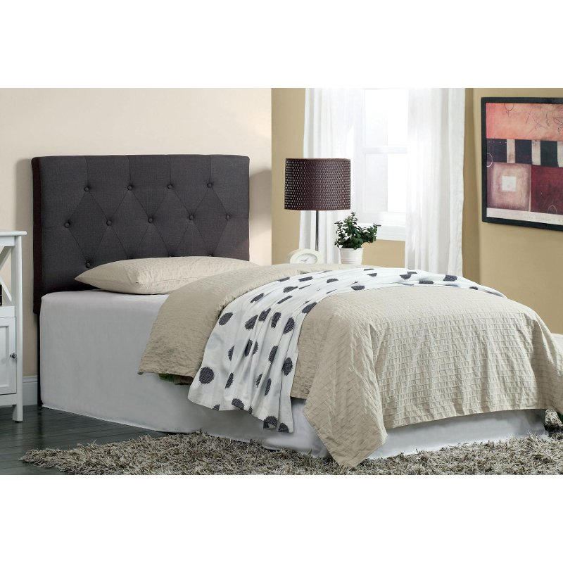 Rc Willey Boise Idaho: Leroy Gray Upholstered Twin Headboard