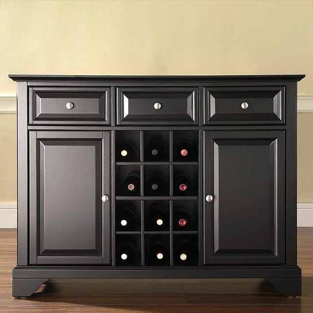 black wine buffet server lafayette rc willey furniture store rh rcwilley com black painted buffet server black buffet server with wine rack
