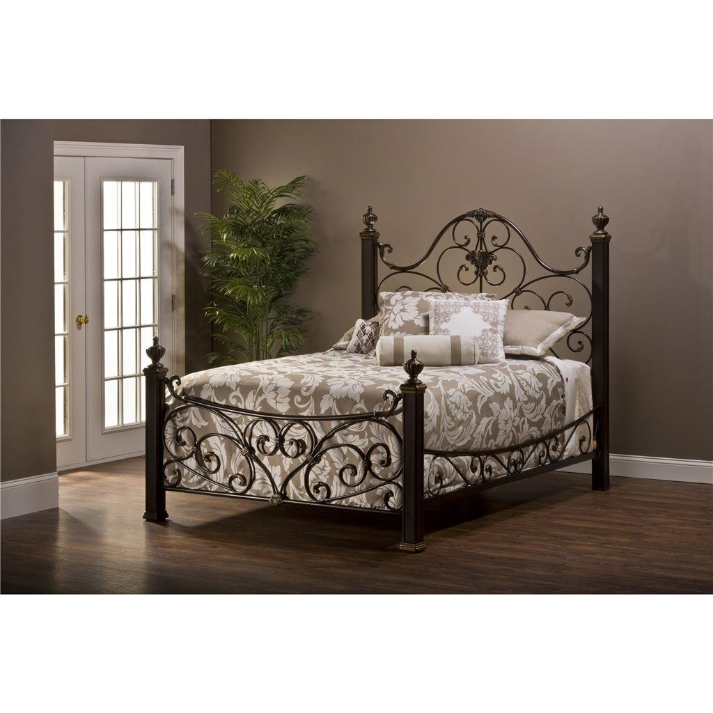 American Furniture Warehouse Mail: Antique Gold Queen Metal Bed - Mikelson