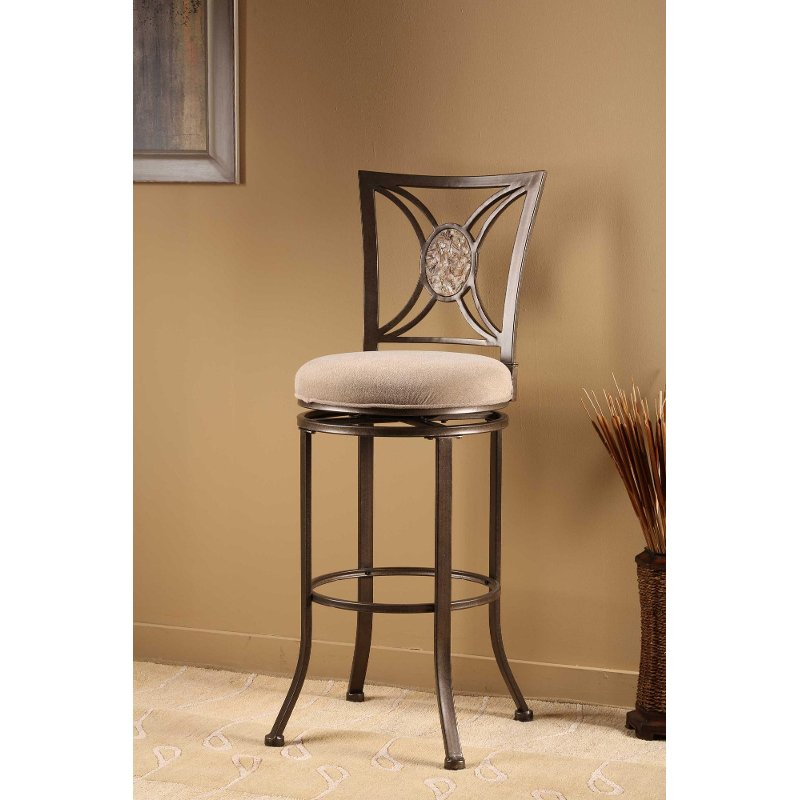 Fossil Stone Swivel Counter Height Stool   Rowan | RC Willey Furniture Store