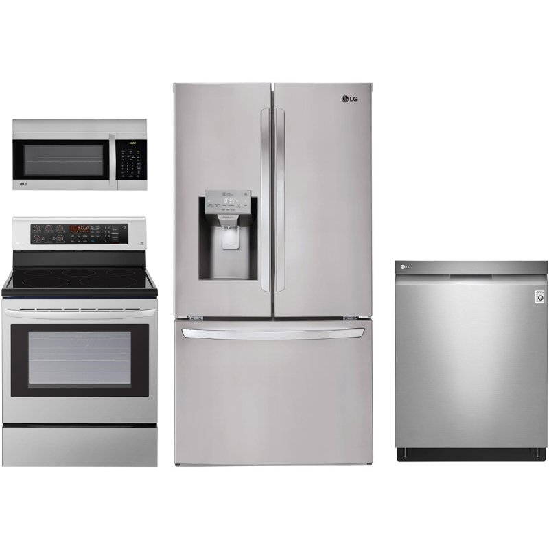 Electric Kitchen Appliance ~ Lg piece electric kitchen appliance package stainless