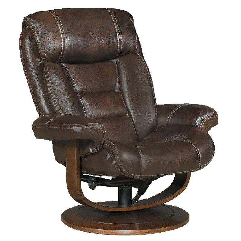 33 dark brown leather match swivel recliner ottoman. Black Bedroom Furniture Sets. Home Design Ideas