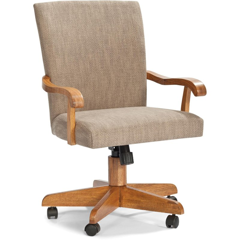 Upholstered Tilt & Swivel Dining Arm Chair - Classic Chestnut Collection