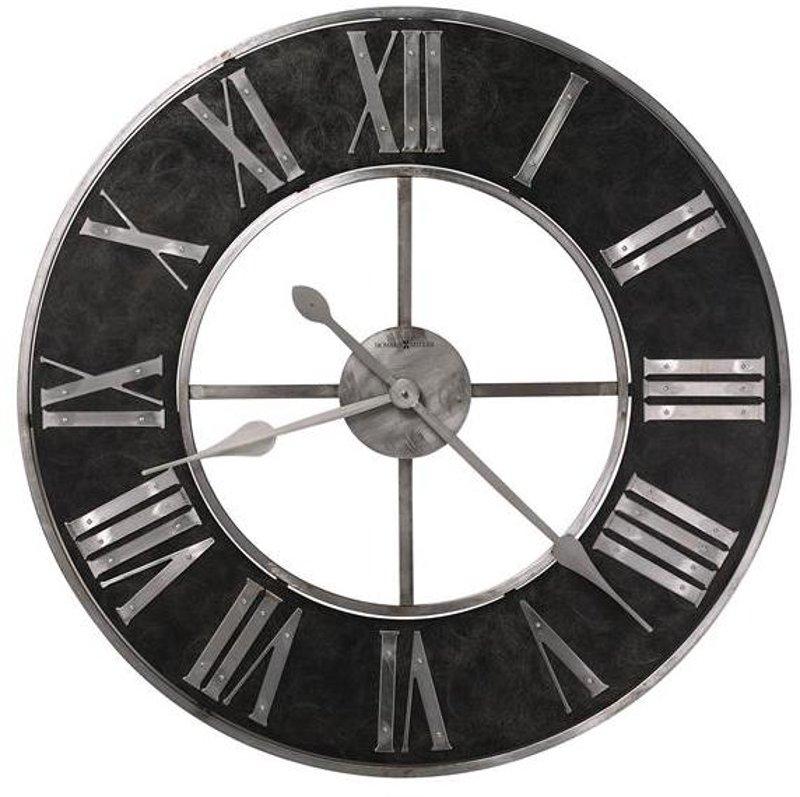 Industrial Style Black Amp Steel Wall Clock