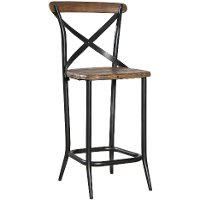 Metal Amp Wood 24 Quot Counter Stool Rc Willey Furniture Store