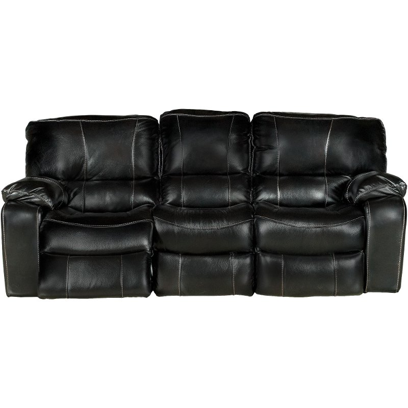 89 Black Leather Match Reclining Sofa Rcwilley Image1