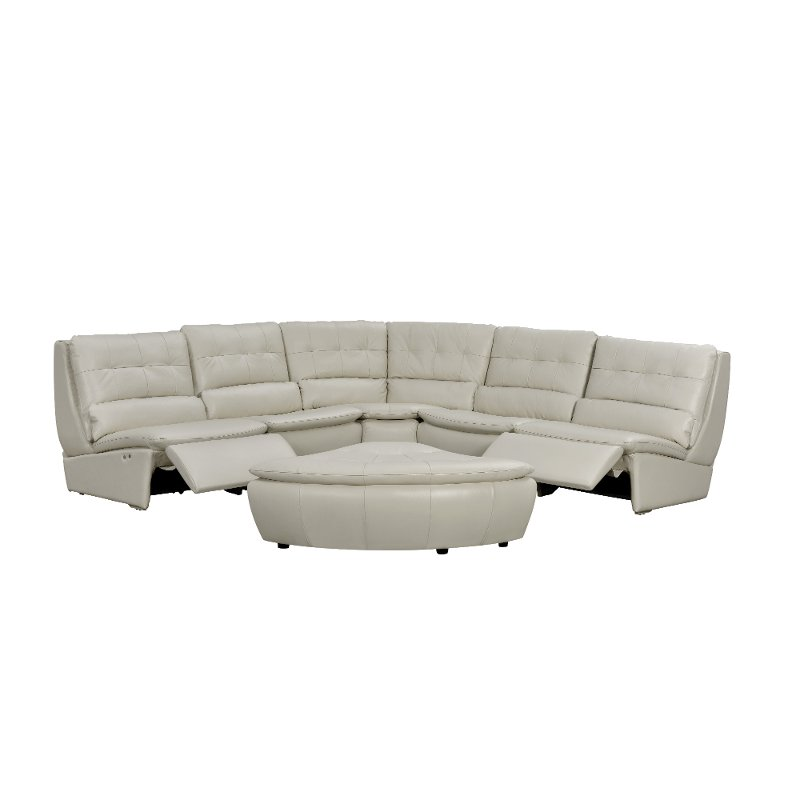 Off White Leather 5 Piece Reclining Sectional : Off White Leather 5 Piece Reclining Sectional rcwilley image1800 from rcwilley.com size 800 x 800 jpeg 21kB