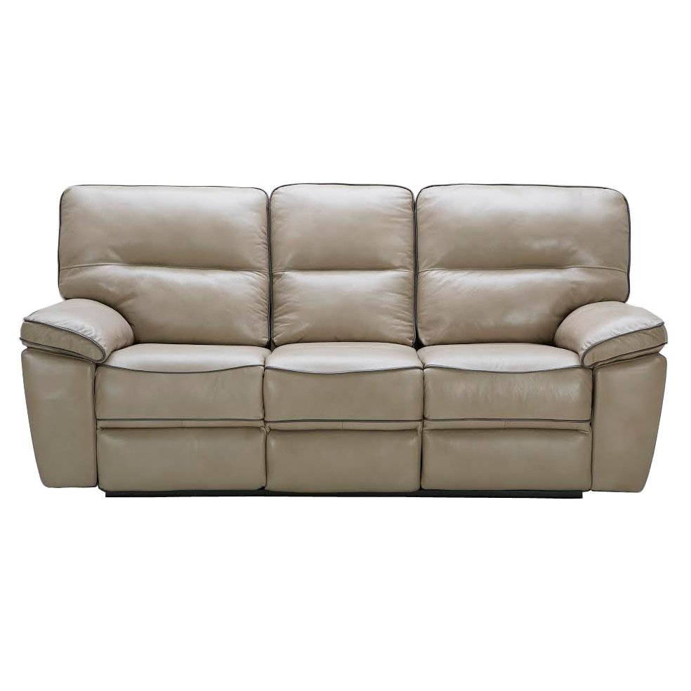 Bronson Taupe Leather Match Power Sofa Loveseat