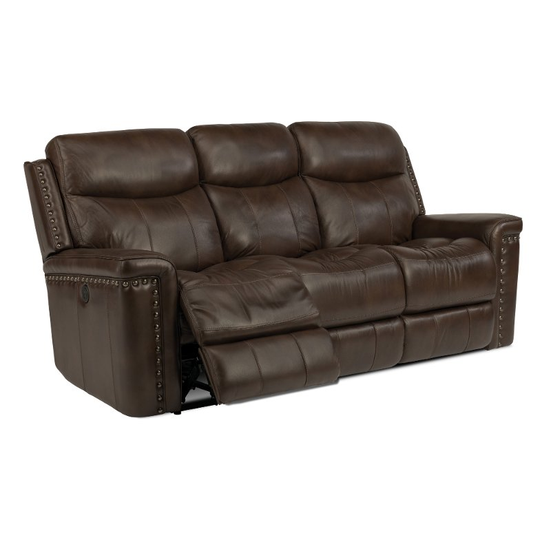Does Sofa And Loveseat Have To Match: Grover-85-Brown-Leather-Match-Reclining-Sofa-rcwilley