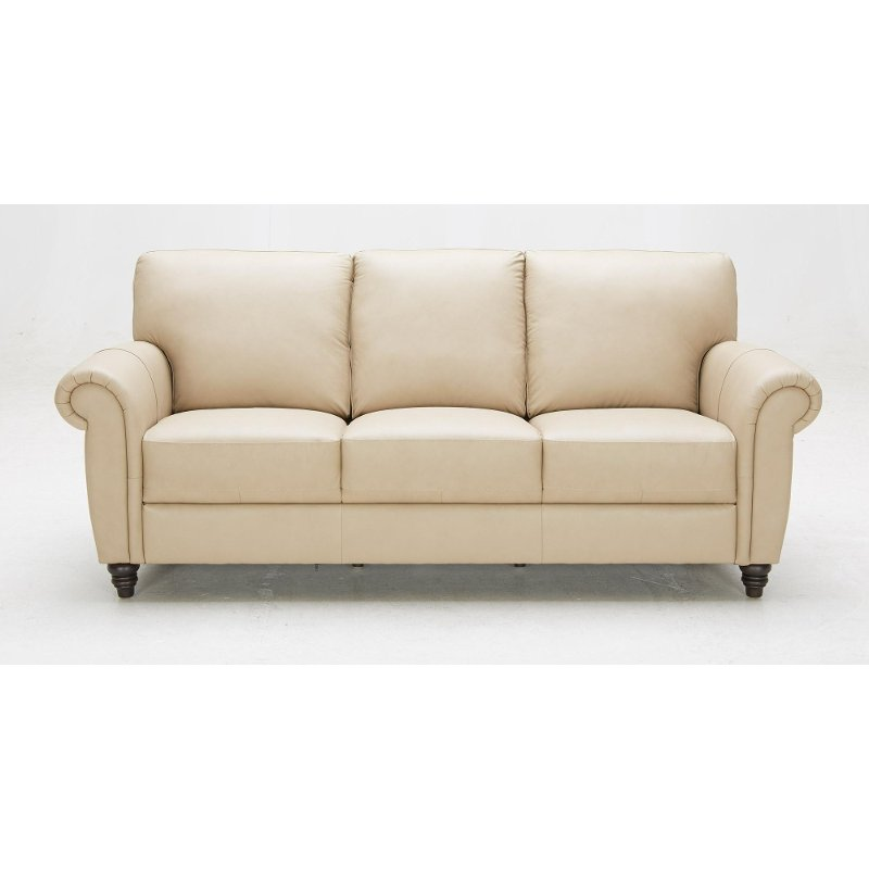 Baxter 84 Beige Leather Match Sofa