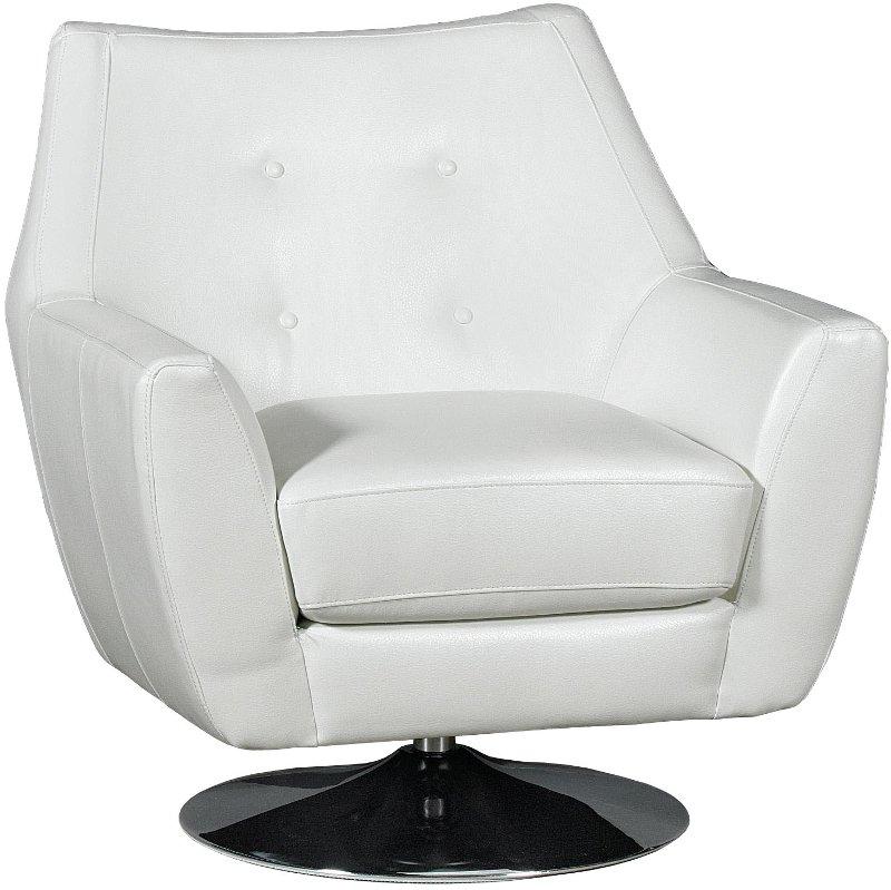 Ontario 35 Thomas White Upholstered Swivel Chair