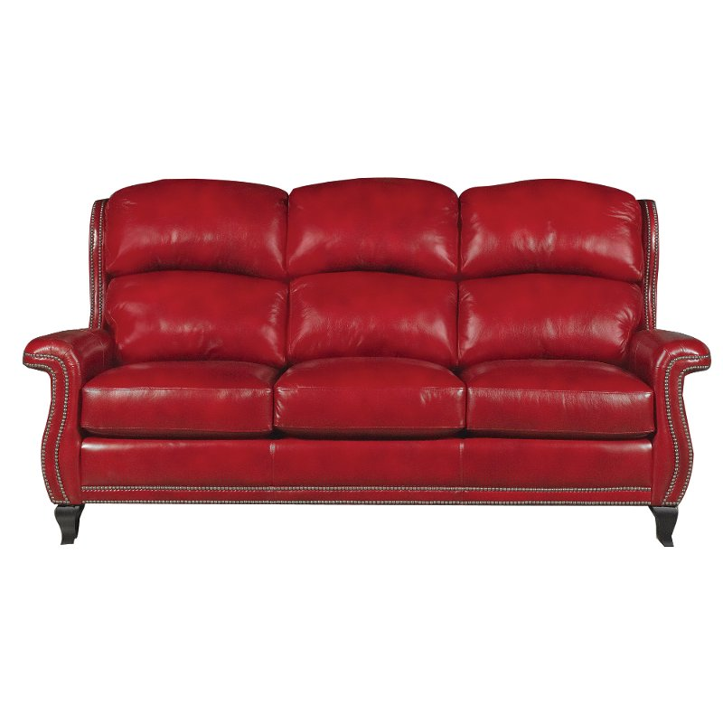 Sting Ray 84 Red Leather Sofa