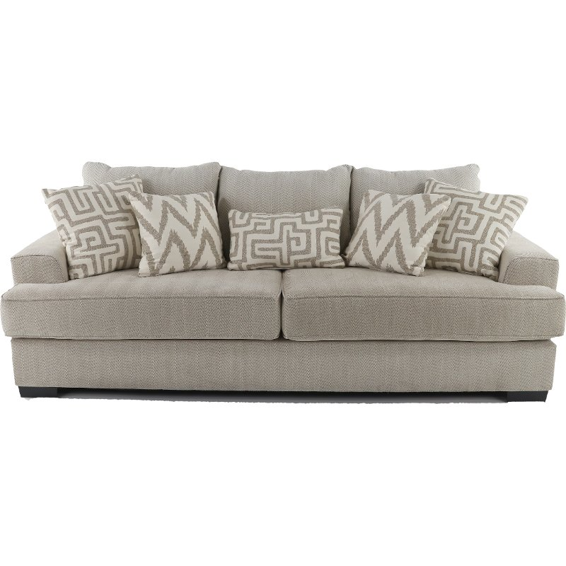 renegade oatmeal upholstered casual sofa. Black Bedroom Furniture Sets. Home Design Ideas