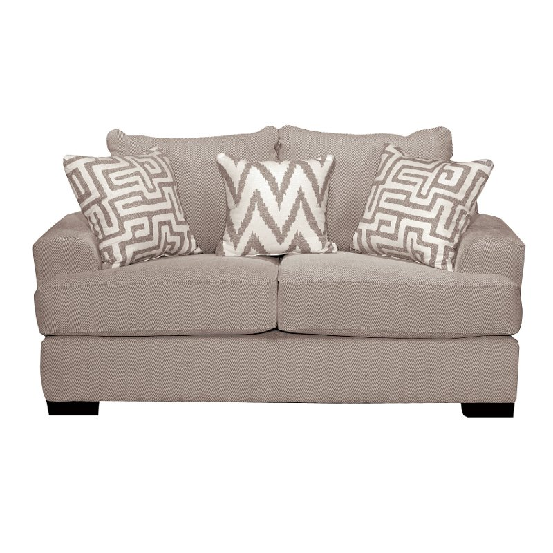 Casual Contemporary Oatmeal Loveseat   Renegade | RC Willey Furniture Store
