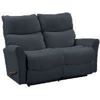 Peacock blue reclina way full reclining loveseat rowan for Z furniture outlet las vegas