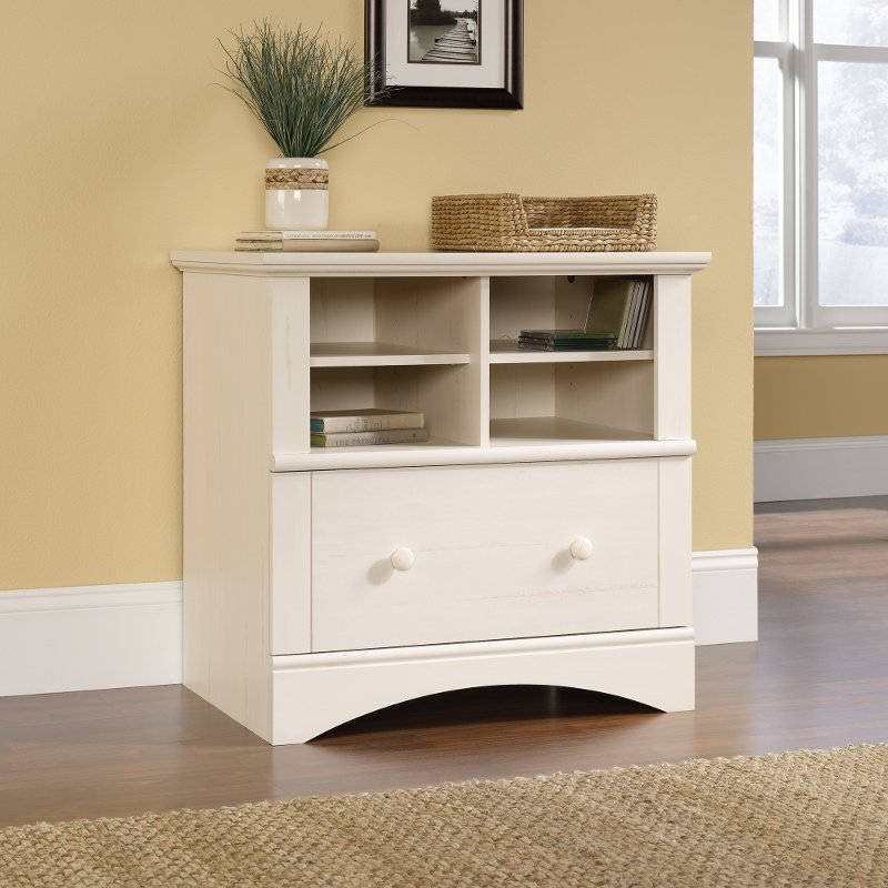 Antiqued White Lateral File Cabinet - Harbor View - Antiqued White Lateral File Cabinet - Harbor View RC Willey