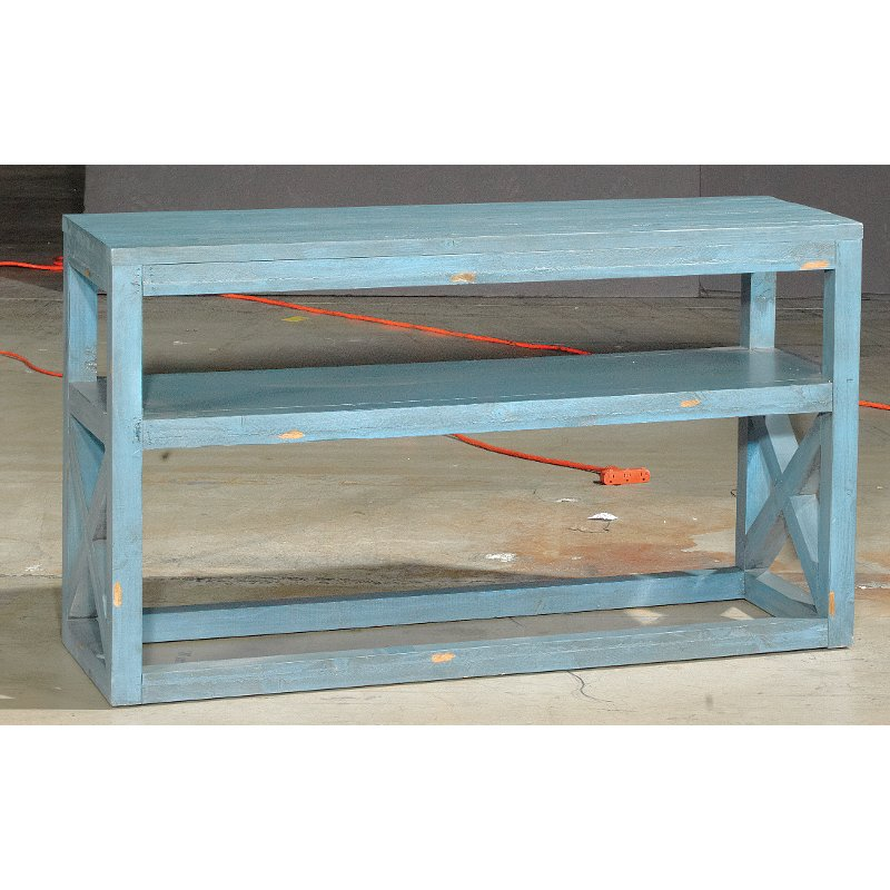 52 inch blue sofa table rc willey furniture store for Sofa table rc willey