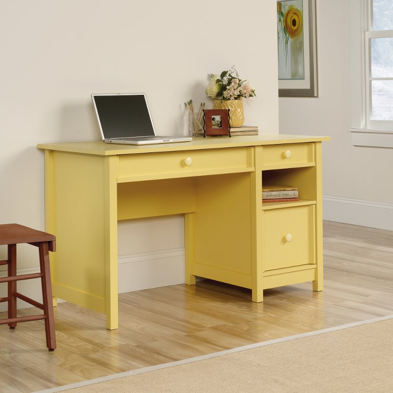 Original Cottage Melon Yellow Desk Rc Willey Furniture Store
