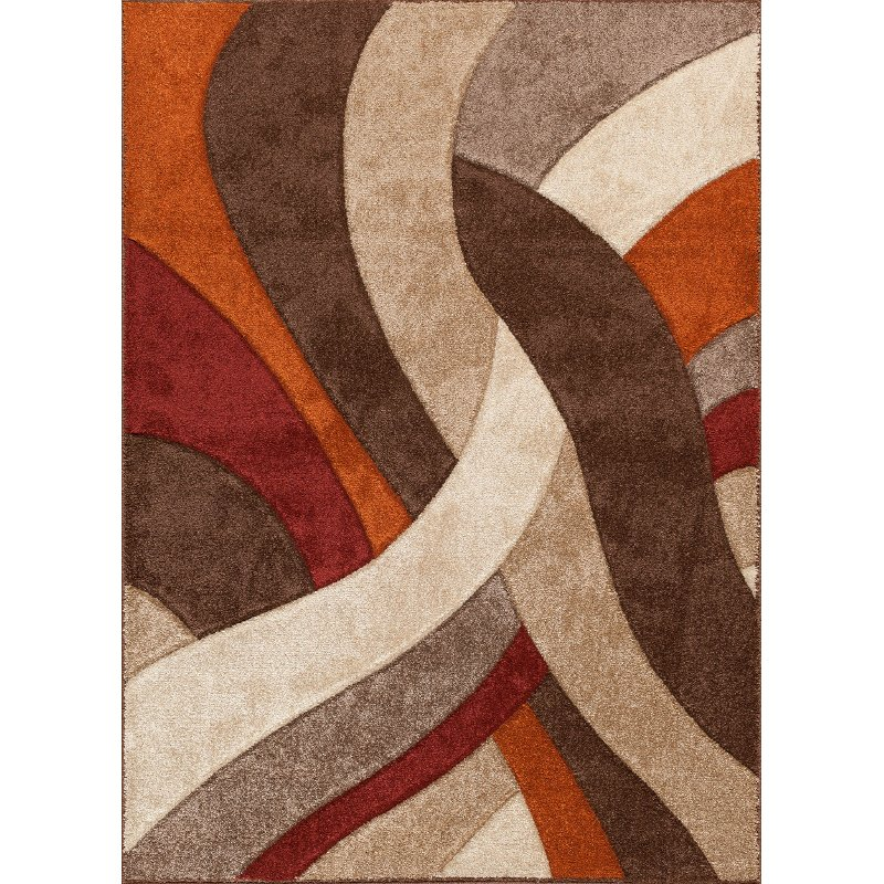 5 X 7 Medium Brown Orange Amp Red Area Rug Alpha Rc