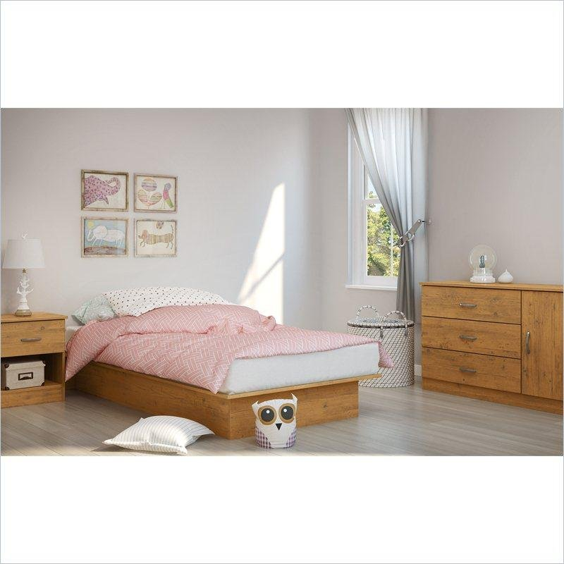 Country Pine Twin Platform Bed - Libra