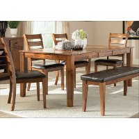 Brandy Brown Transitional Dining Table - Kona Collection