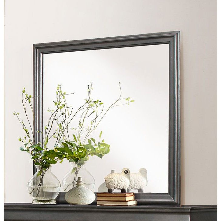 Rc Willey Orem: Slate Gray Classic Mirror - Mayville