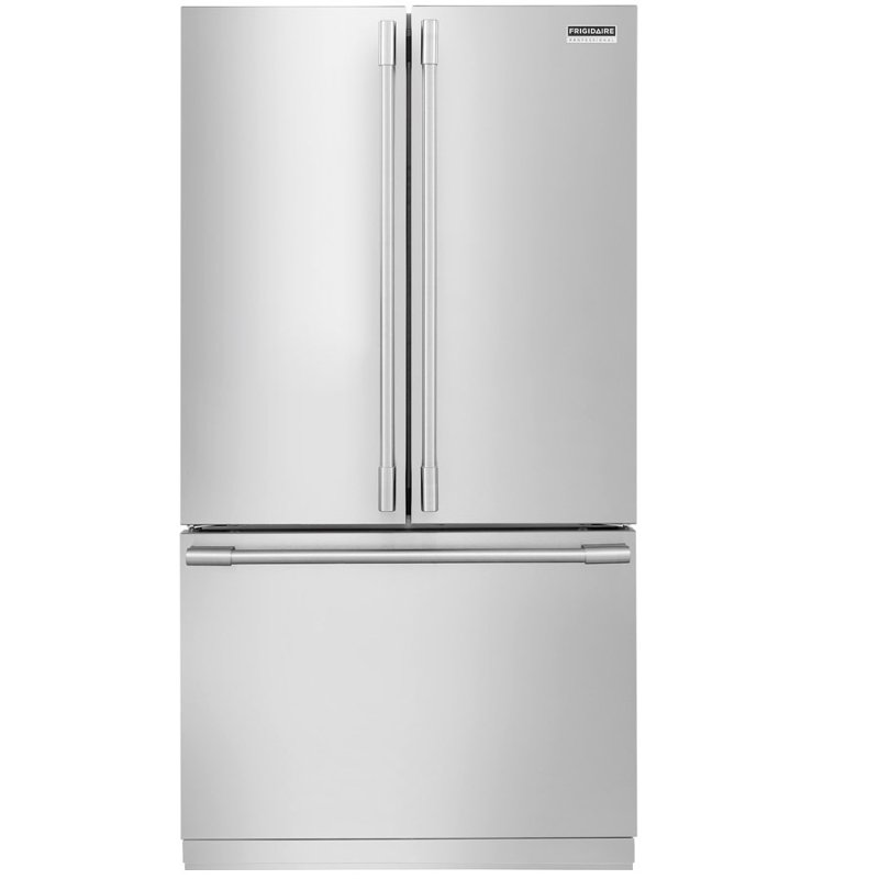 Frigidaire 36 Inch French Door Refrigerator Counter Depth Stainless Steel Rc Willey