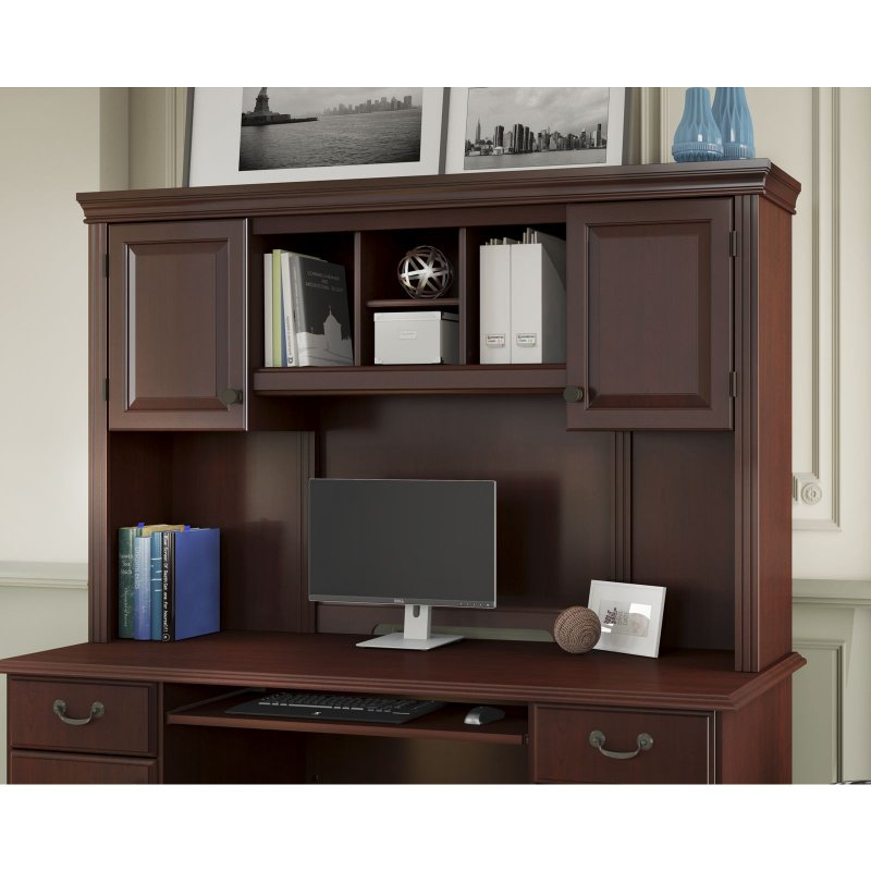 Kathy Ireland Cherry Hutch Bennington Rc Willey Furniture Store