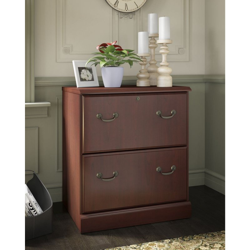 Kathy Ireland Cherry 2 Drawer Lateral File Cabinet   Bennington | RC Willey  Furniture Store