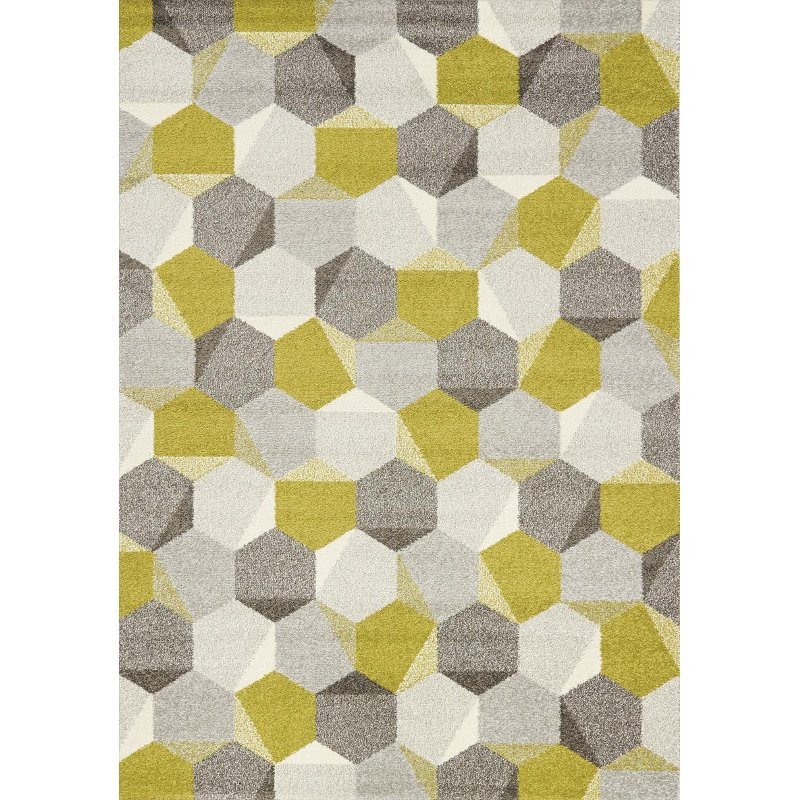 5 X 8 Medium Honeycomb Green And Gray Area Rug Camino Rc Willey