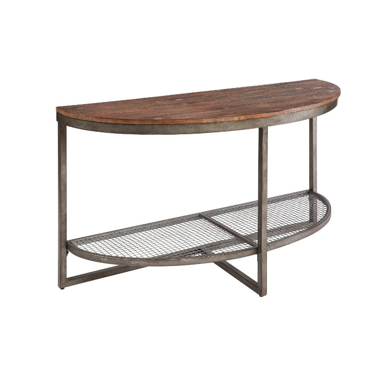 Ink ivy sheridan wood metal rustic industrial console table for Metal and wood console tables