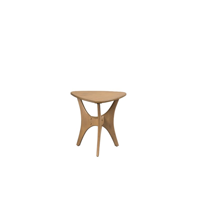 Small Mid Century Modern End Tables: Ink+Ivy Pecan Mid-Century Modern Triangle End Table