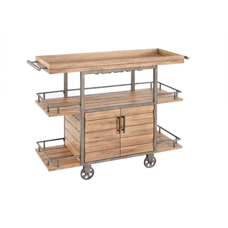 Wood And Metal Industrial Kitchen Cart: Ink+Ivy Cirque Wood & Metal Rustic Industrial Bar Cart