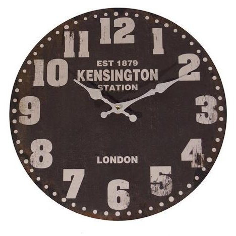 Black Round Wall Clock Rc Willey Furniture Store