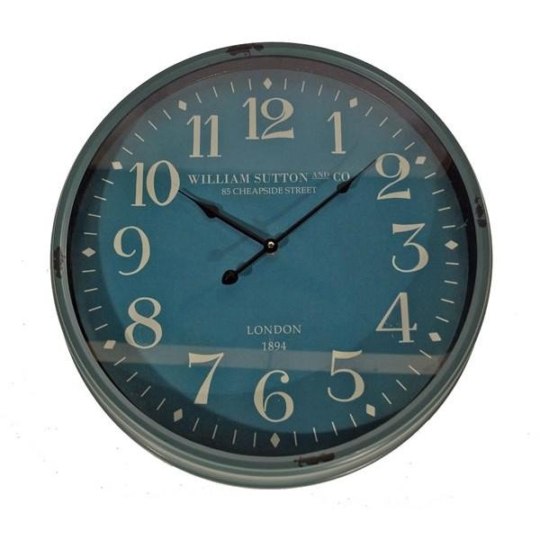 Blue Metal Framed Clock Rc Willey Furniture Store