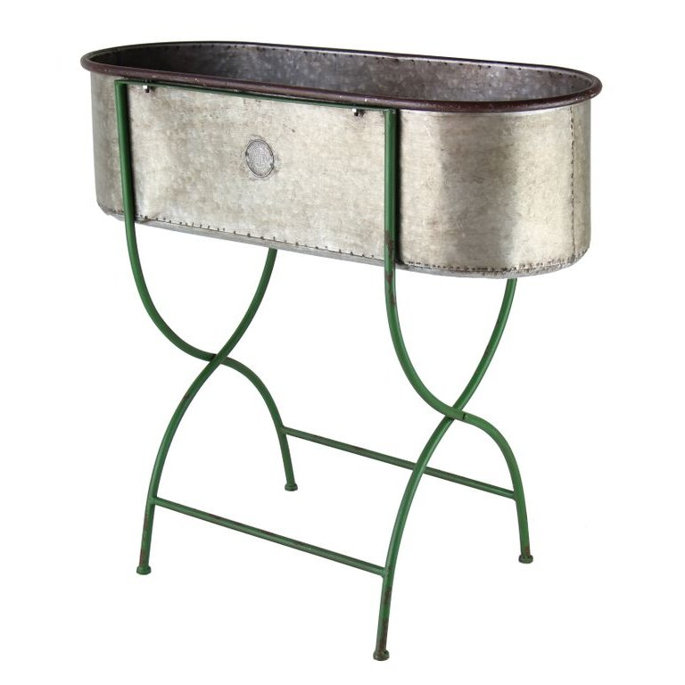 Galvanized Metal Planter Stand