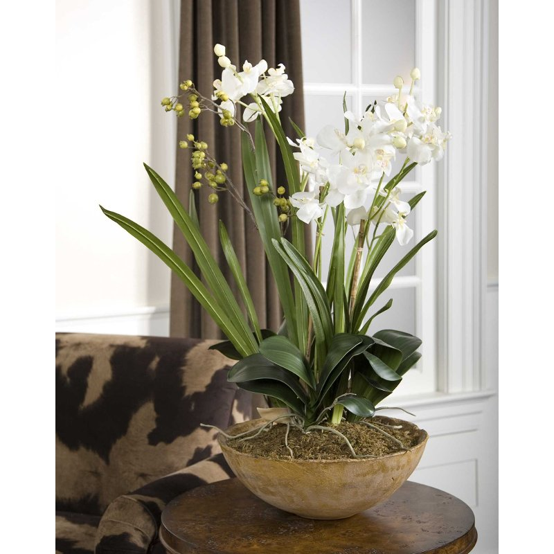 Moth White Orchid Planter Arrangement | RC Willey Furniture Store
