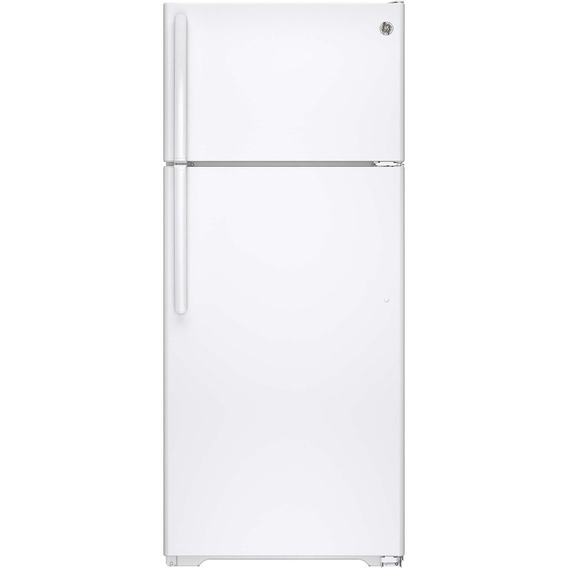 Ge 17 5 Cu Ft Top Freezer Refrigerator 28 Inch White