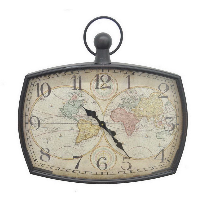 World map wall clock rc willey furniture store world map wall clock gumiabroncs Image collections