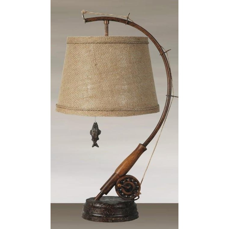 Metal fishing table lamp rc willey furniture store aloadofball Image collections