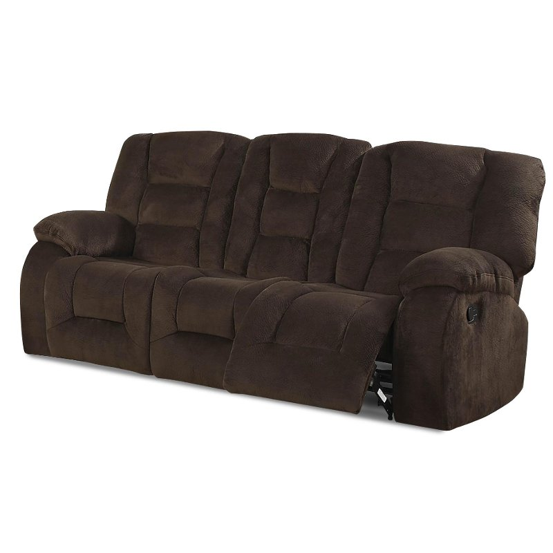 Jackson 86 Chocolate Brown Upholstered Reclining Sofa