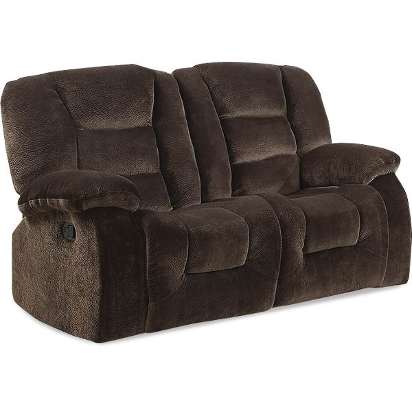 Jackson 64 Chocolate Brown Upholstered Reclining Loveseat